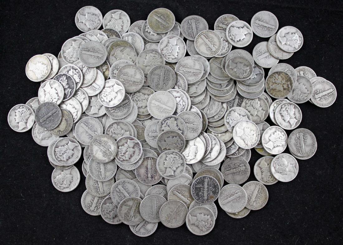 200 Mercury 90% Silver Dimes $20 Face Value