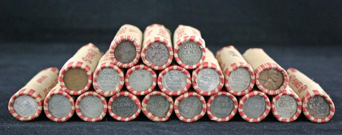 19 + Rolls of Wheat Pennies $9.95 Face Value