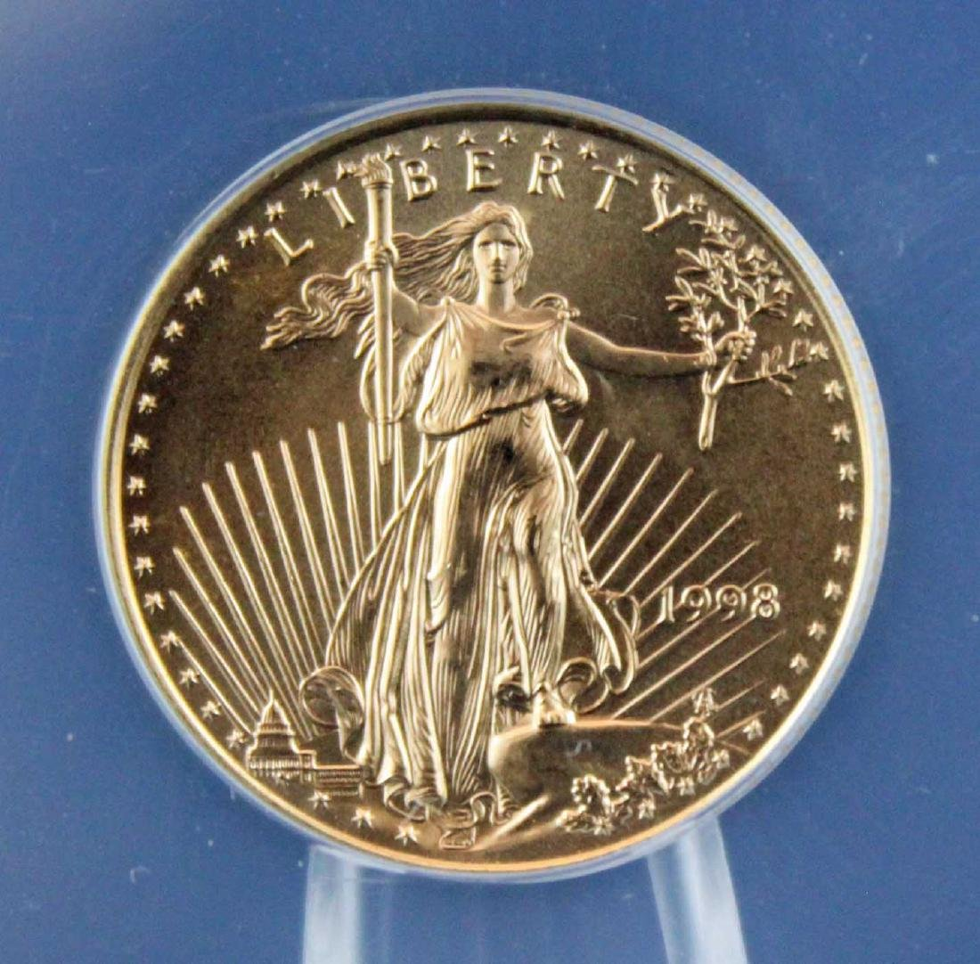 1998 $10 1/4 Troy Oz. Gold Eagle ANACS MS 68 - 2
