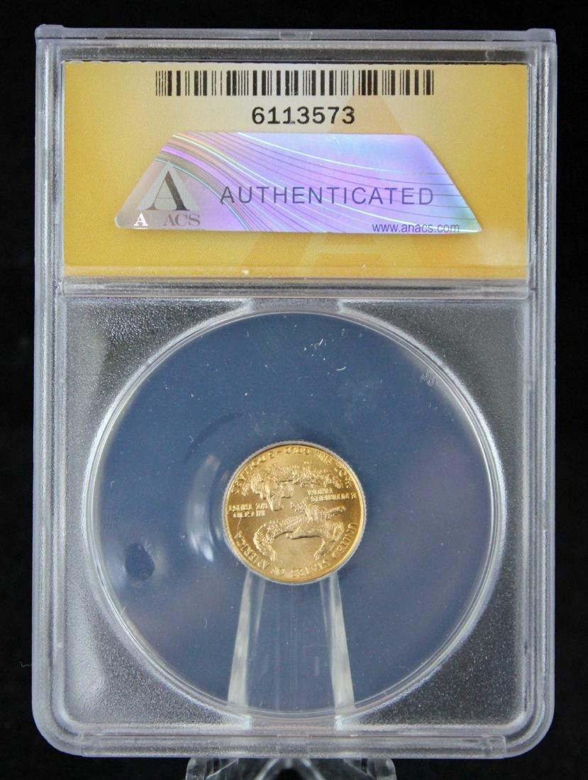 1986 $5 1/10 Troy Oz. Gold Eagle ANACS MS 70 - 3