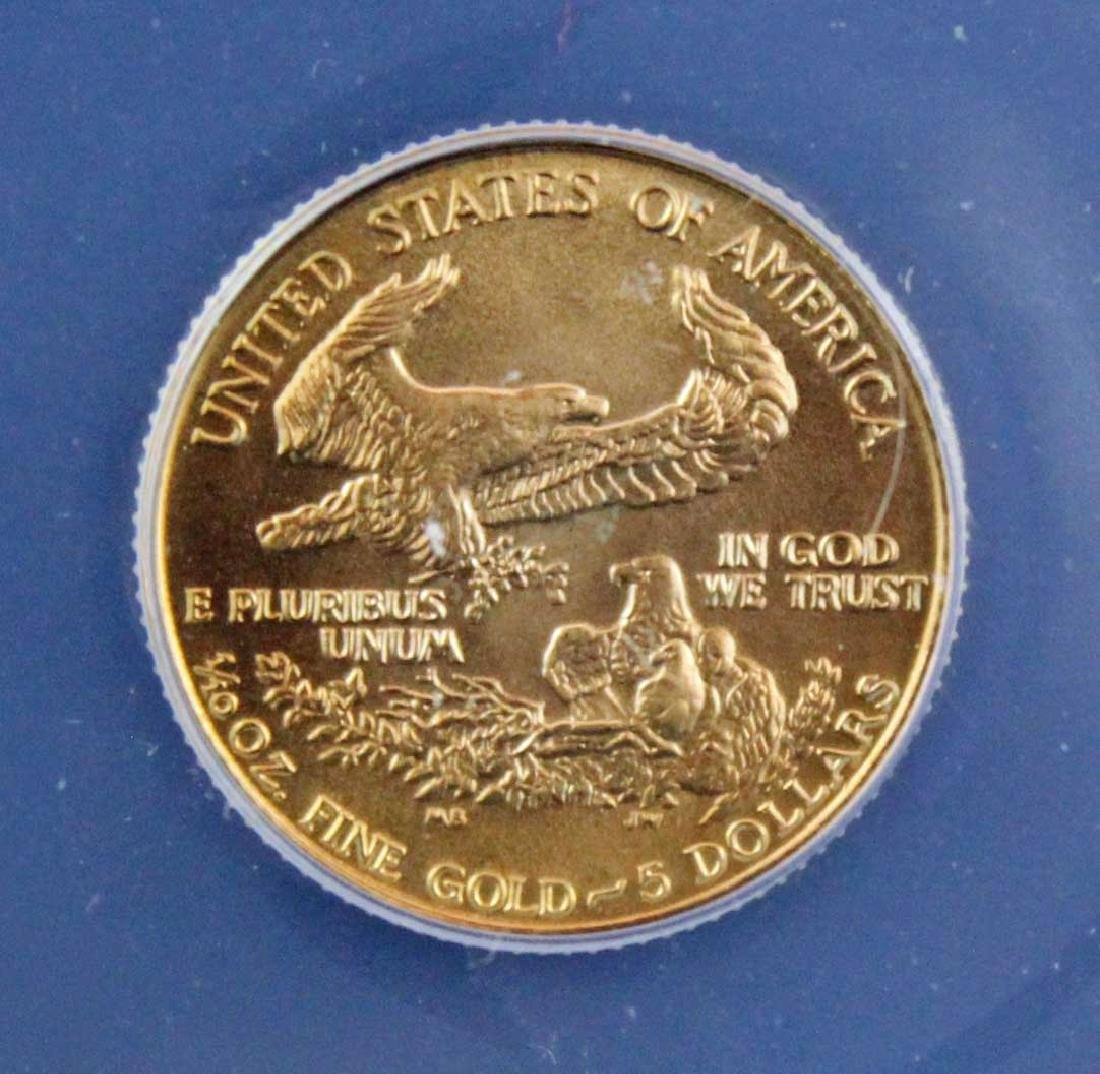 1986 $5 1/10 Troy Oz. Gold Eagle ANACS MS 70 - 4