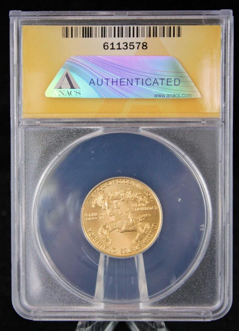 1995 $10 1/4 Troy Oz. Gold Eagle ANACS MS 68 - 3