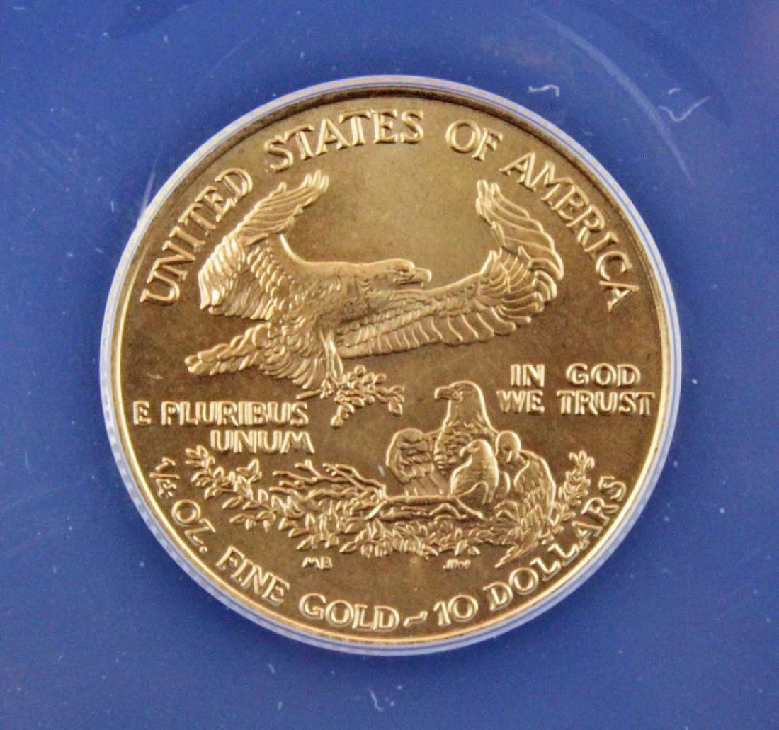 1995 $10 1/4 Troy Oz. Gold Eagle ANACS MS 68 - 4