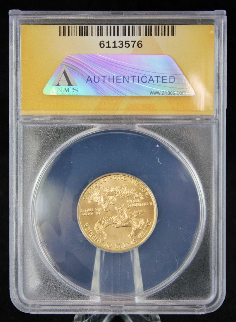 1995 $10 1/4 Troy Oz. Gold Eagle ANACS MS 68 - 3
