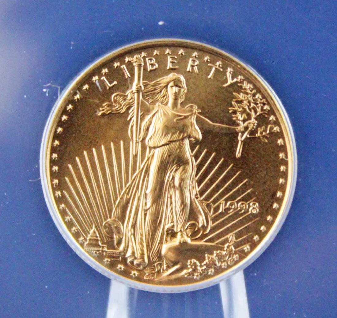 1998 $10 1/4 Troy Oz. Gold Eagle ANACS MS 68 - 2