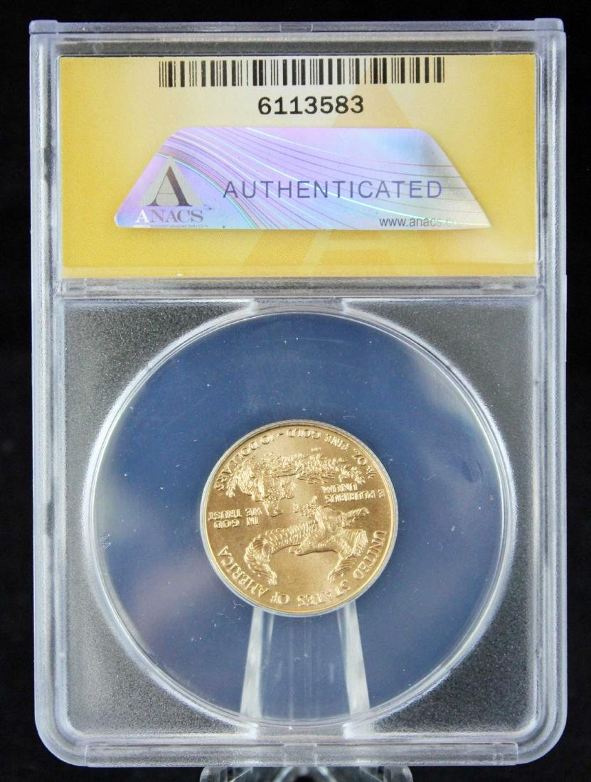 1998 $10 1/4 Troy Oz. Gold Eagle ANACS MS 68 - 3