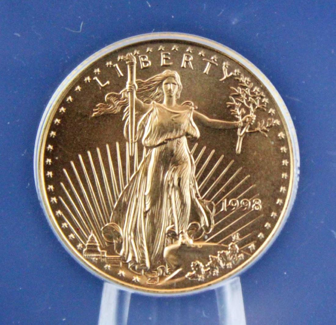 1998 $10 1/4 Troy Oz. Gold Eagle ANACS MS 67 - 2