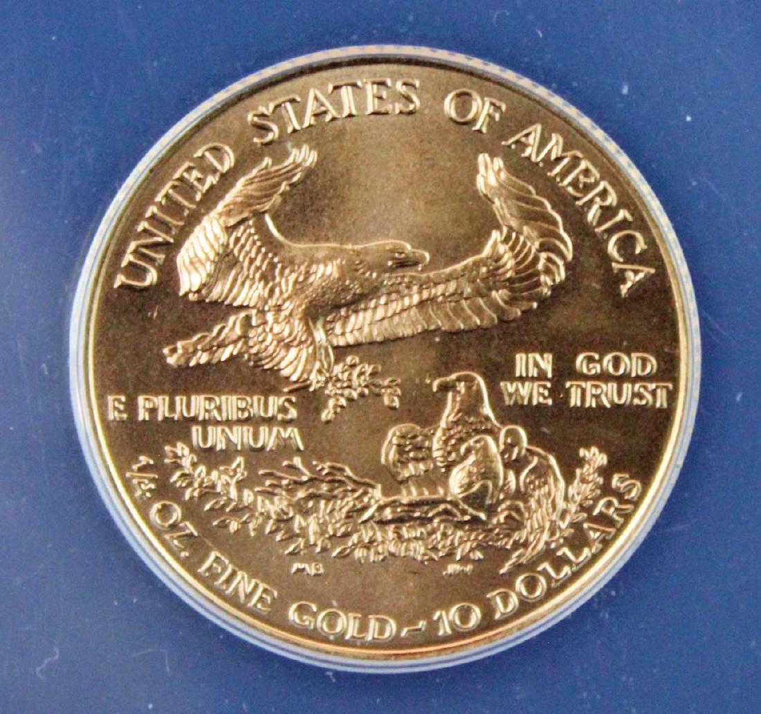 1998 $10 1/4 Troy Oz. Gold Eagle ANACS MS 67 - 4