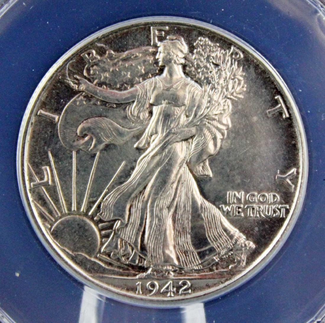 14 Walking Liberty Half Dollars Incl. 1942 - MS60 - 2