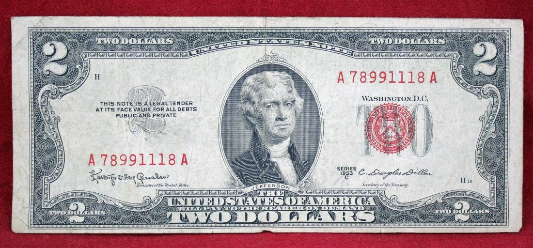 Forty 1953 &1963 Series Red Seal Two Dollar Notes - 2