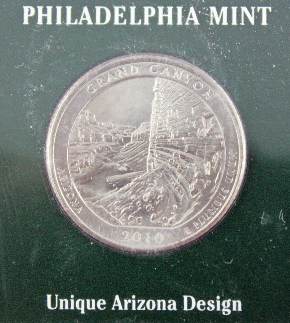 16 State Quarter History Displays w/ Stamps - 2