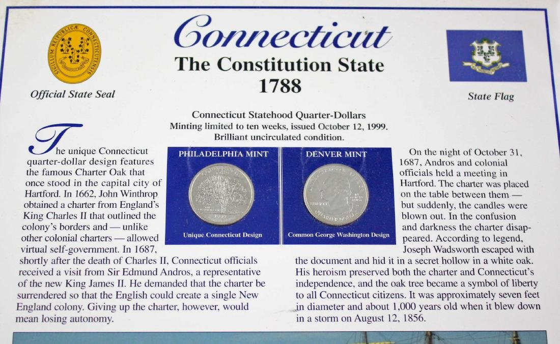 16 State Quarter History Displays w/ Stamps - 3