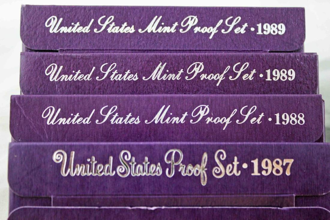 Seven San Francisco U.S. Mint Proof Sets 1987 - 93 - 2