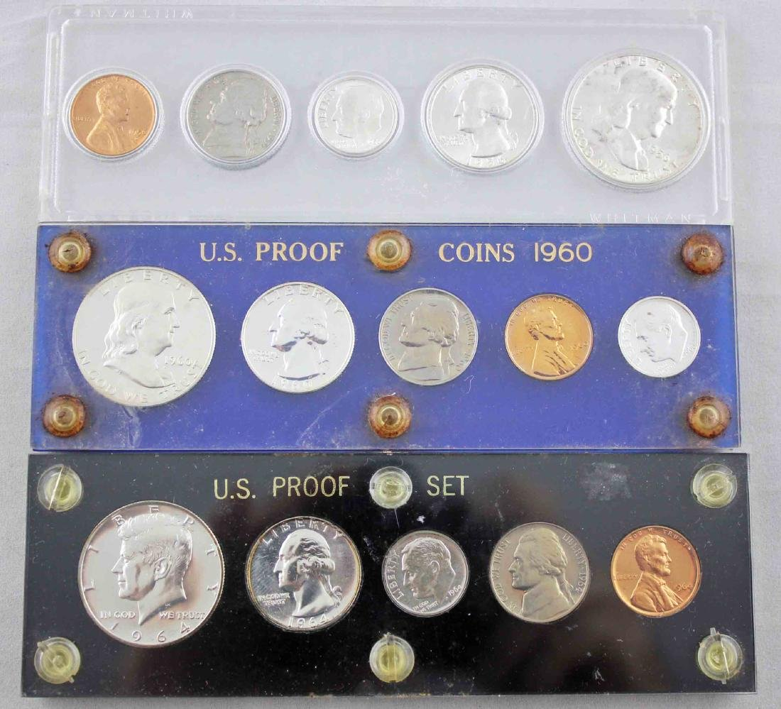 1960 & 64 Proof Sets with 1956 Unc. US Coin Set