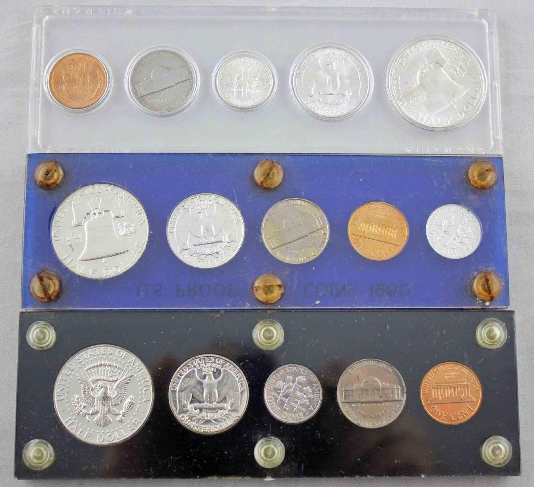 1960 & 64 Proof Sets with 1956 Unc. US Coin Set - 3