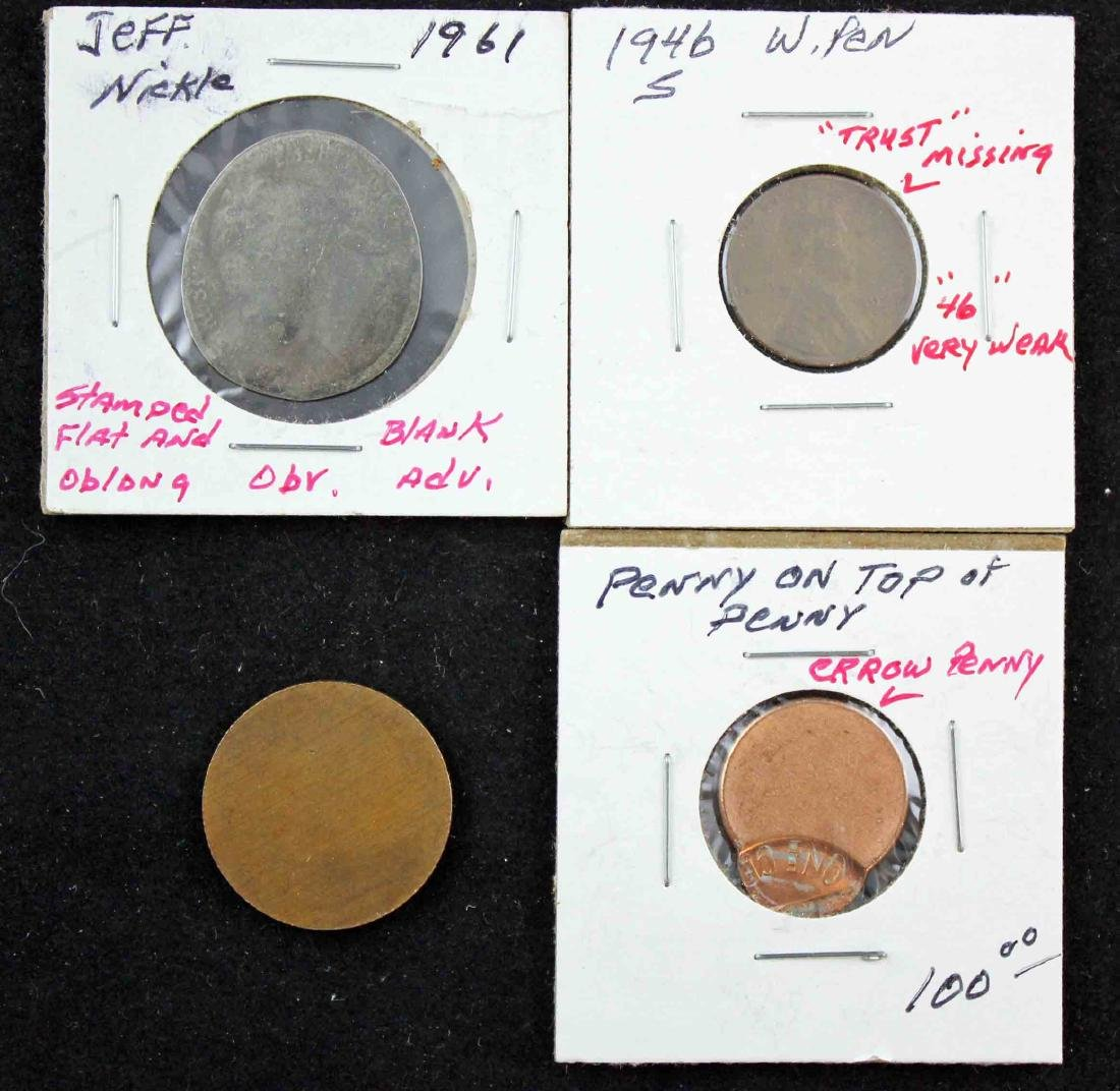 Four Coins with Possible Mint Errors