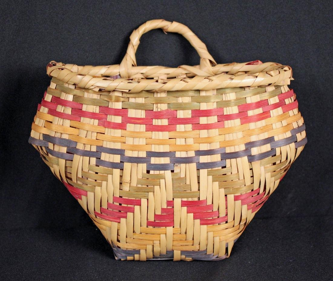 3 Indian Baskets Incl. 2 Choctaw Indian River Cane - 2
