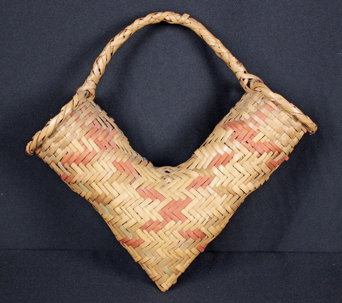 3 Indian Baskets Incl. 2 Choctaw Indian River Cane - 3