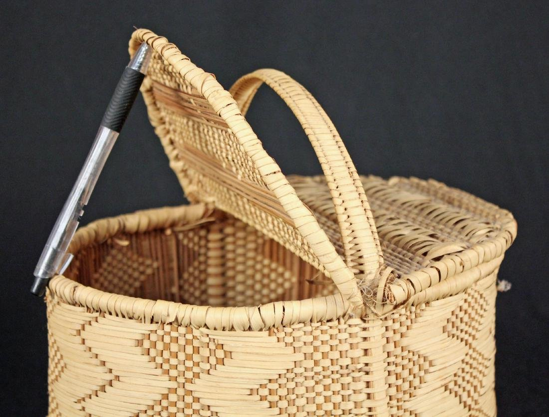 3 Indian Baskets Incl. 2 Choctaw Indian River Cane - 4