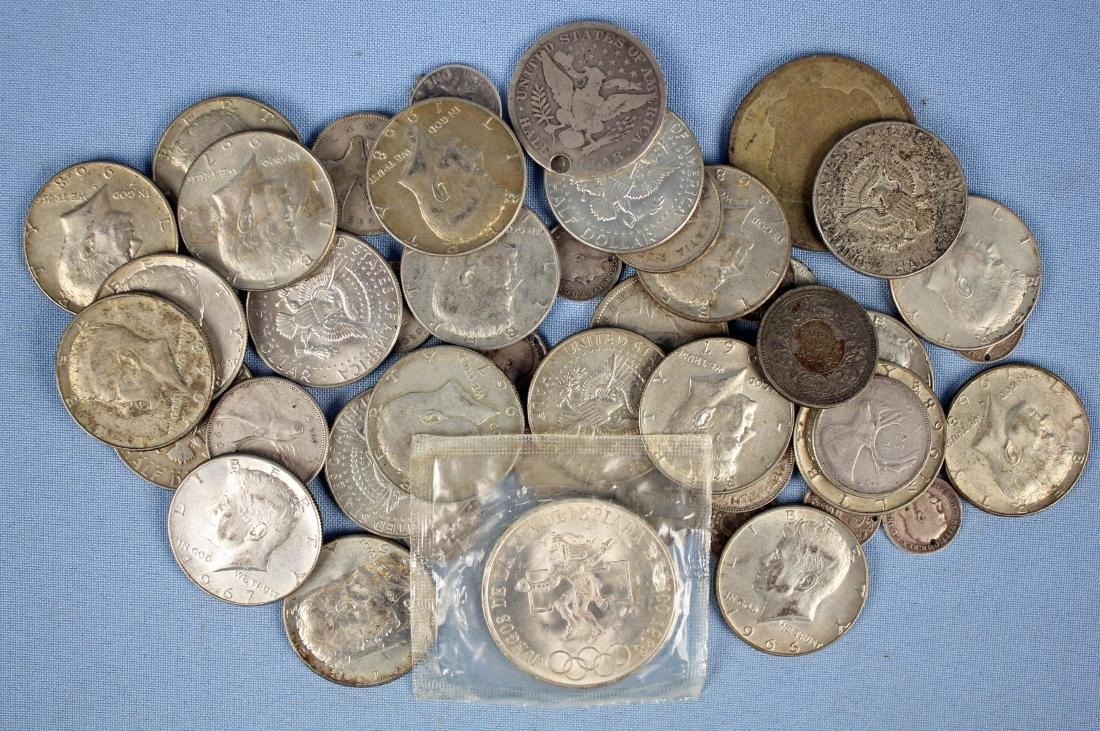 Group of U.S. & Foreign Silver Coins - 2