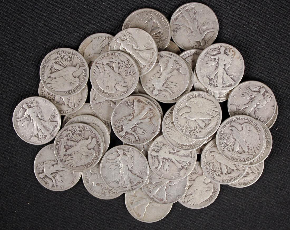 40 Walking Liberty Silver Half Dollars