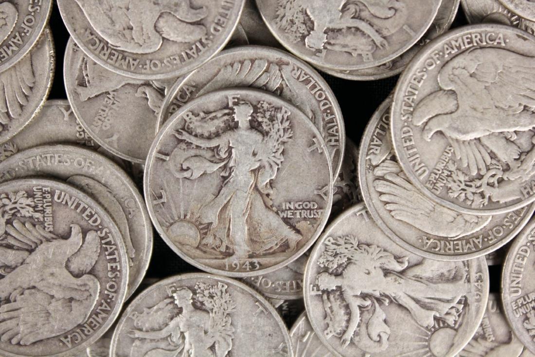 40 Walking Liberty Silver Half Dollars - 2
