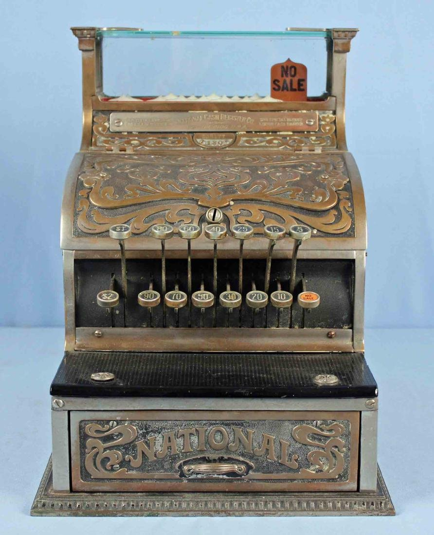 Brass National Cash Register Mo. 130, Candy/Barber - 2