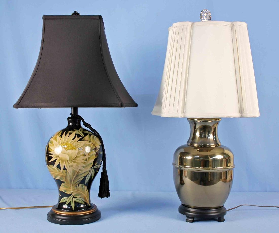 Two Designer Electric Lamps