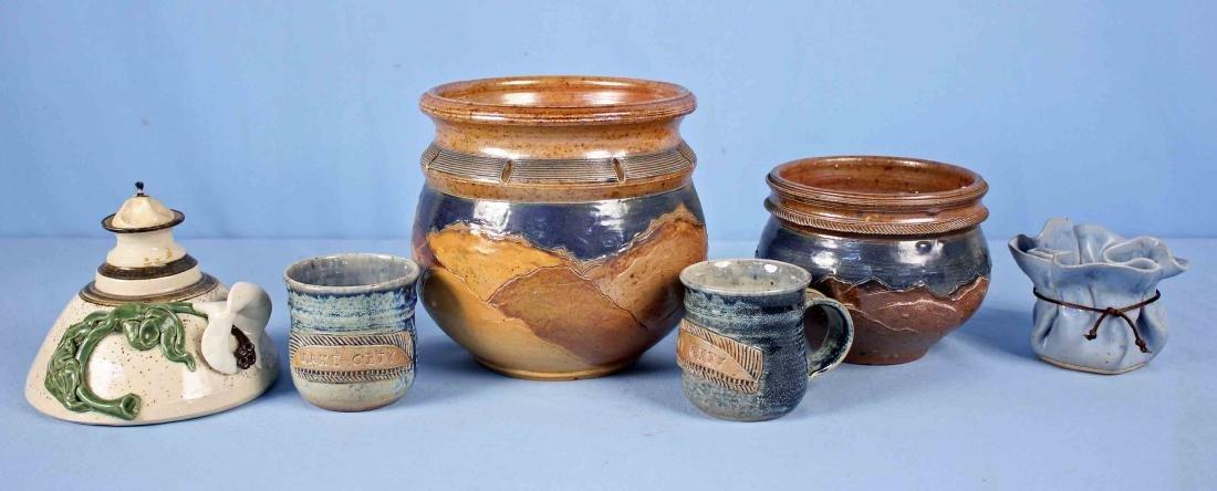 Six Pcs. of Modern Art Pottery Incl. 2 Pete Main
