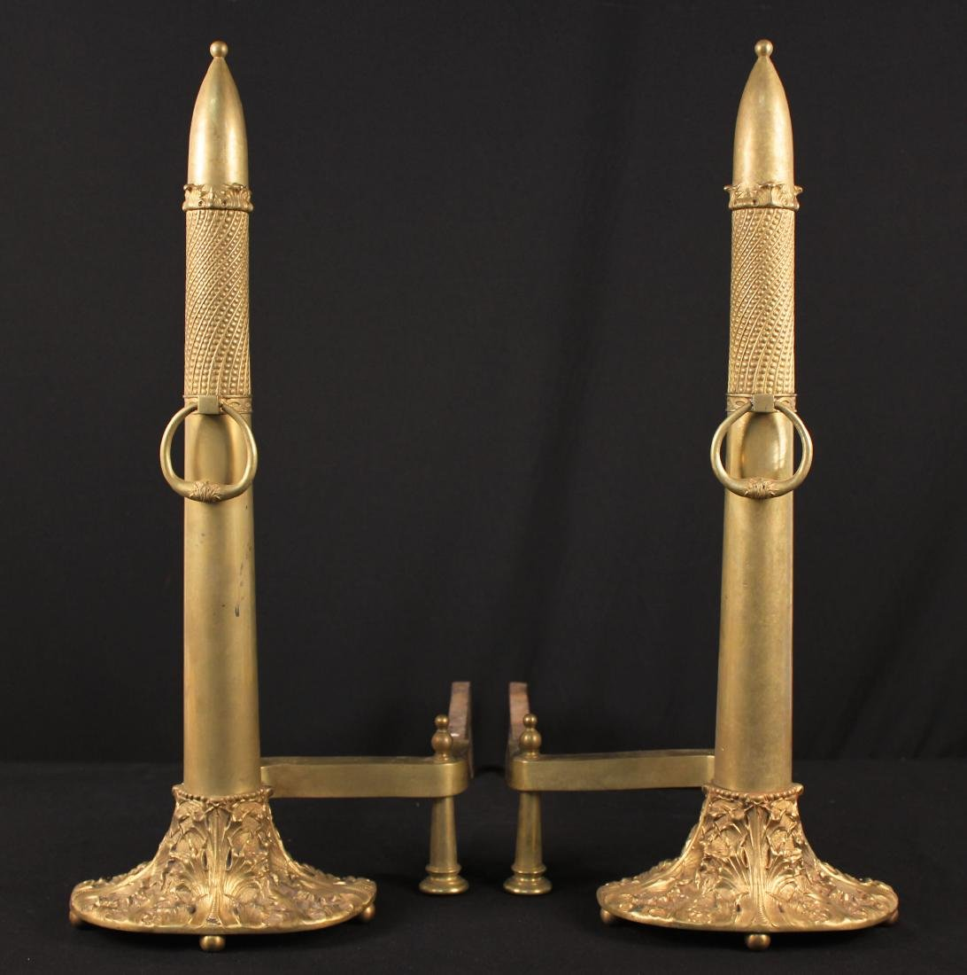 A Pair of Moorish Style Andirons