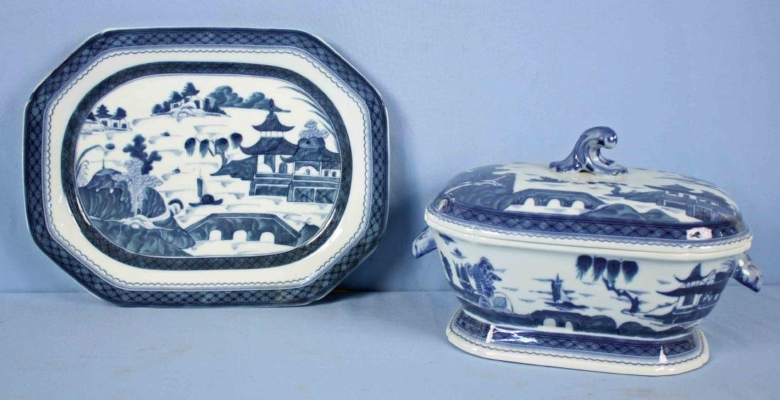 Mottahedeh Blue Canton Tureen and Platter