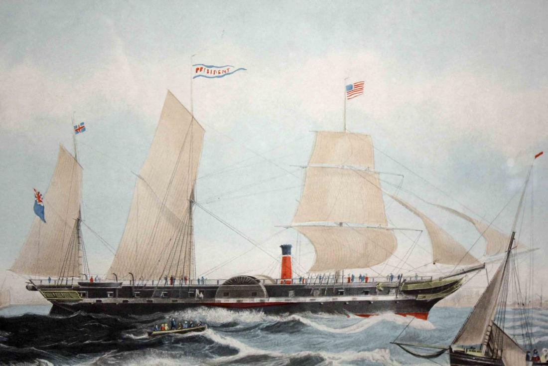 Pair of 19th Century Style Steam Ship Prints - 8