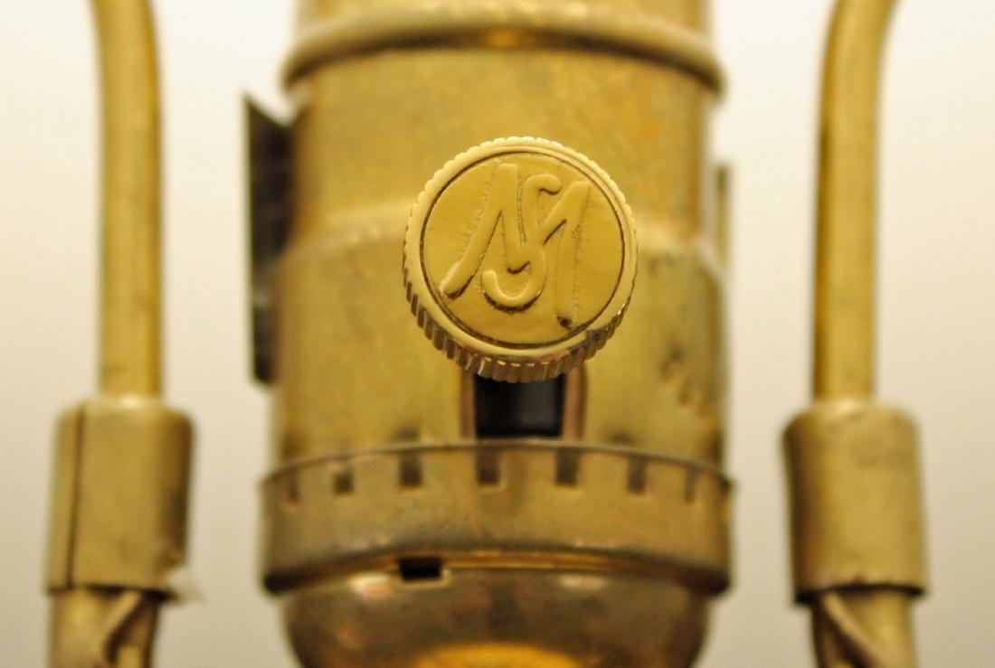 Maitland Smith Leaded Crystal & Brass Swans Lamp - 6