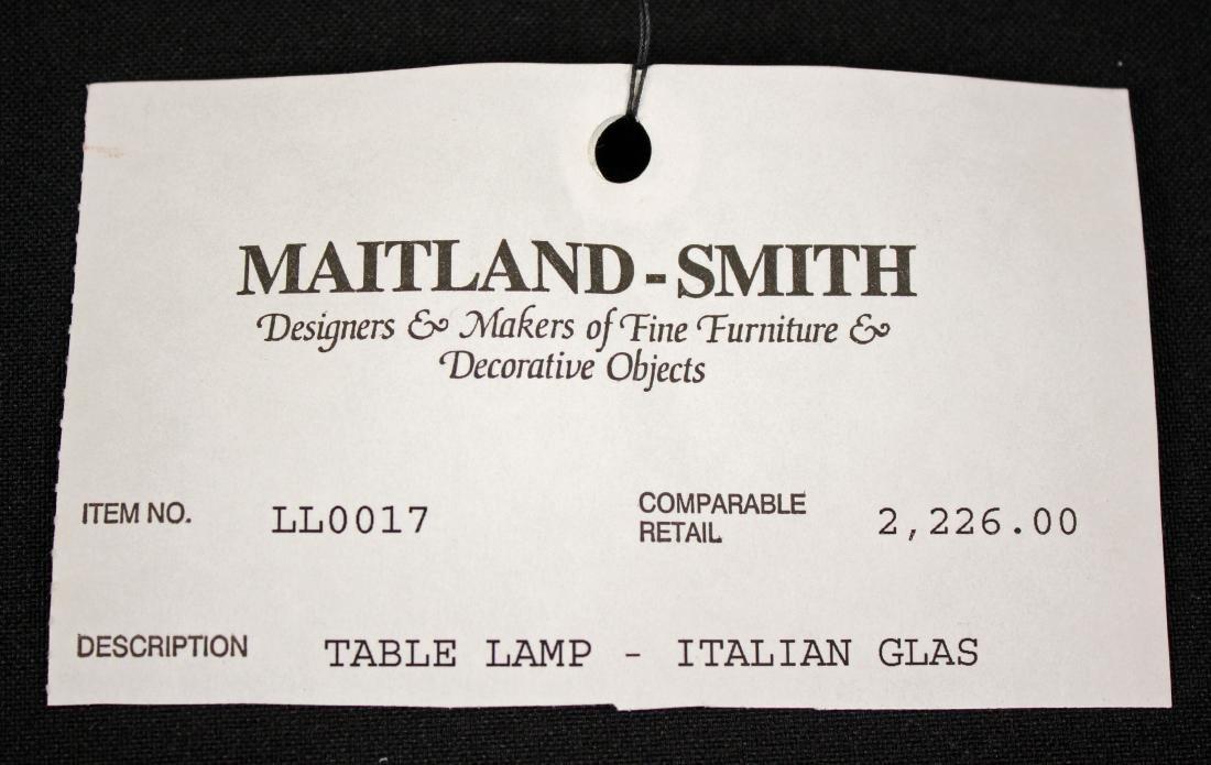 Maitland Smith Leaded Crystal & Brass Swans Lamp - 7
