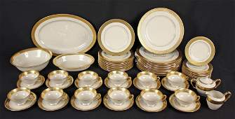 65 Piece Set of Lenox Westchester Gold Trim China