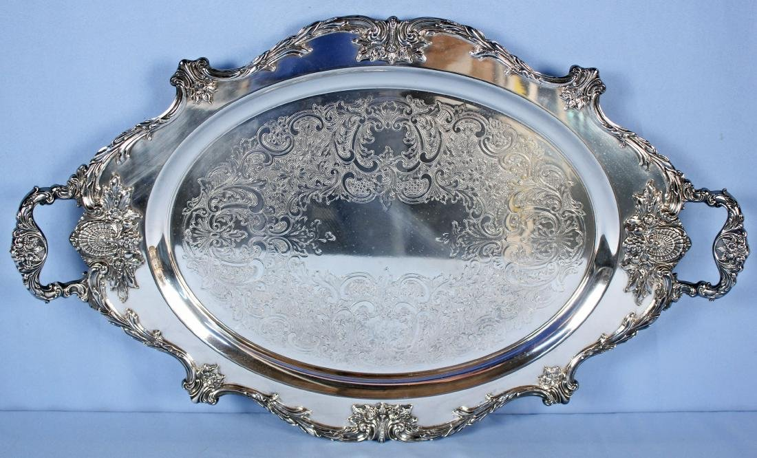 Large Wallace Christopher Wren Silver Plate Tray