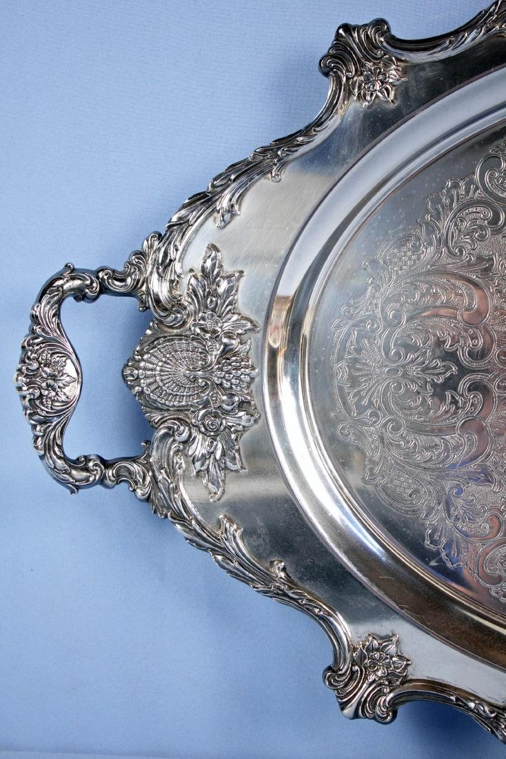 Large Wallace Christopher Wren Silver Plate Tray - 2