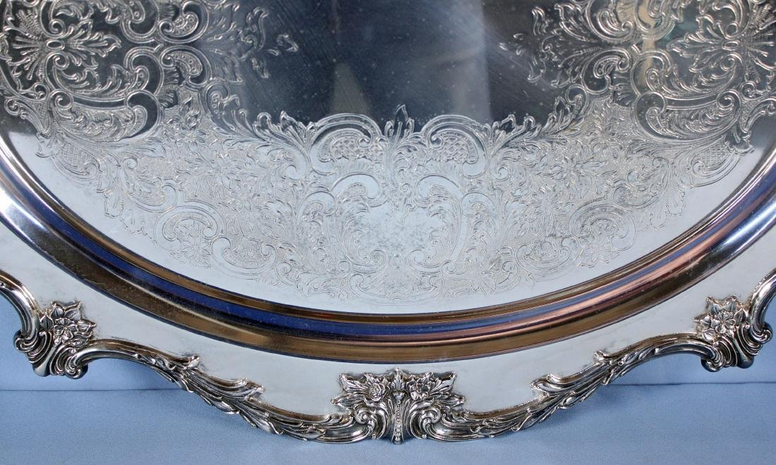 Large Wallace Christopher Wren Silver Plate Tray - 3