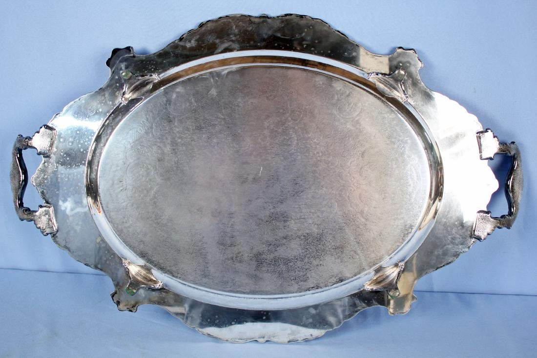 Large Wallace Christopher Wren Silver Plate Tray - 4