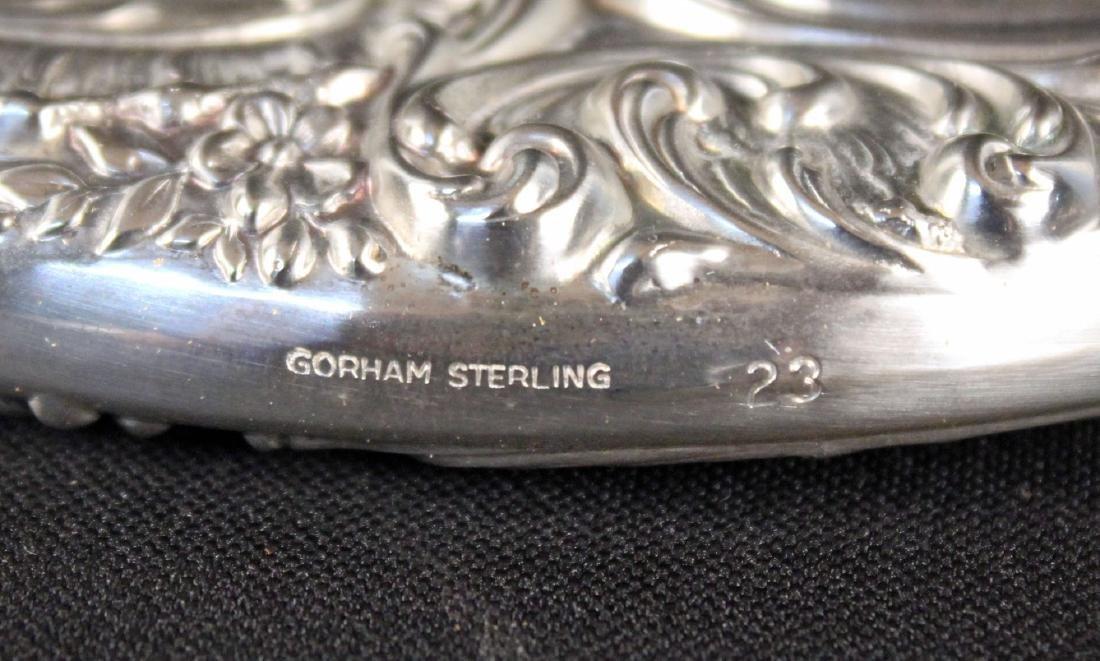 Gorham Sterling Silver Vanity Set w/ Mirror, Brush - 3