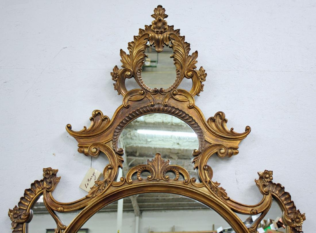 Pair of La Barge Italian Rococo Style Oval Mirrors - 2