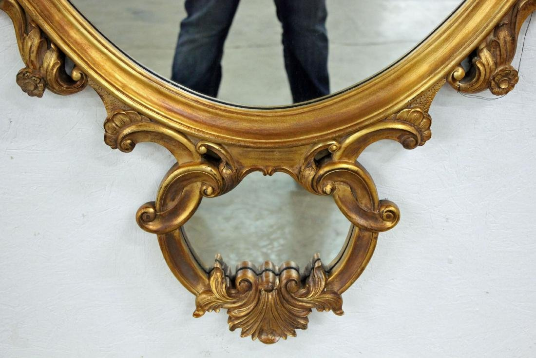 Pair of La Barge Italian Rococo Style Oval Mirrors - 4
