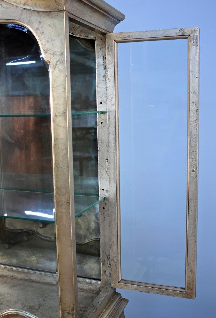 Weiman Furniture Antique Silver Leaf Curio Cabinet - 3