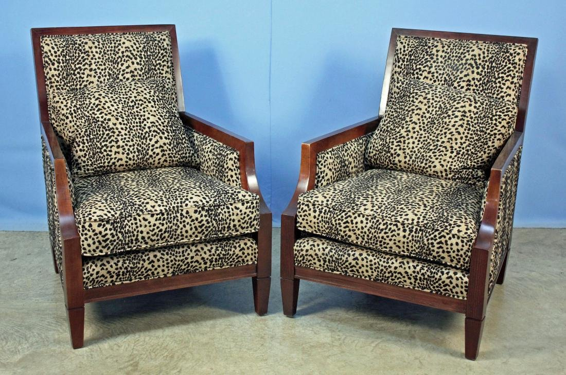 Pair Sam Moore French Moderne Living Room Chairs