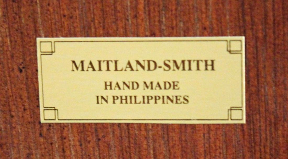 Maitland Smith Mahogany Inlaid Sq. Breakfast Table - 6