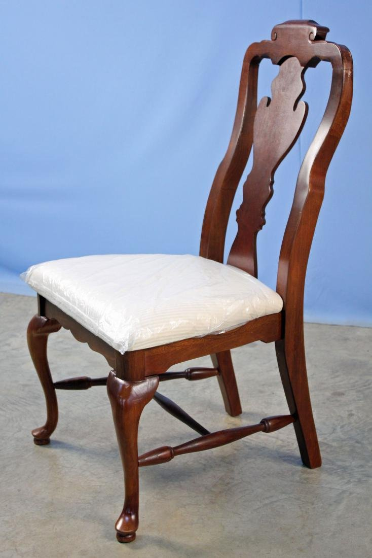 Four Basset Queen Anne Style Cherry Finish Chairs - 2