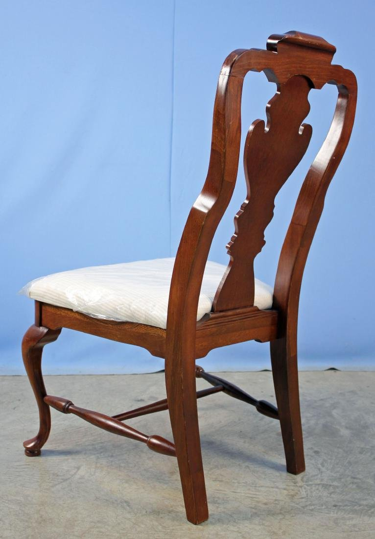 Four Basset Queen Anne Style Cherry Finish Chairs - 4