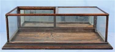 Circa 1900 Oak Counter Top Showcase