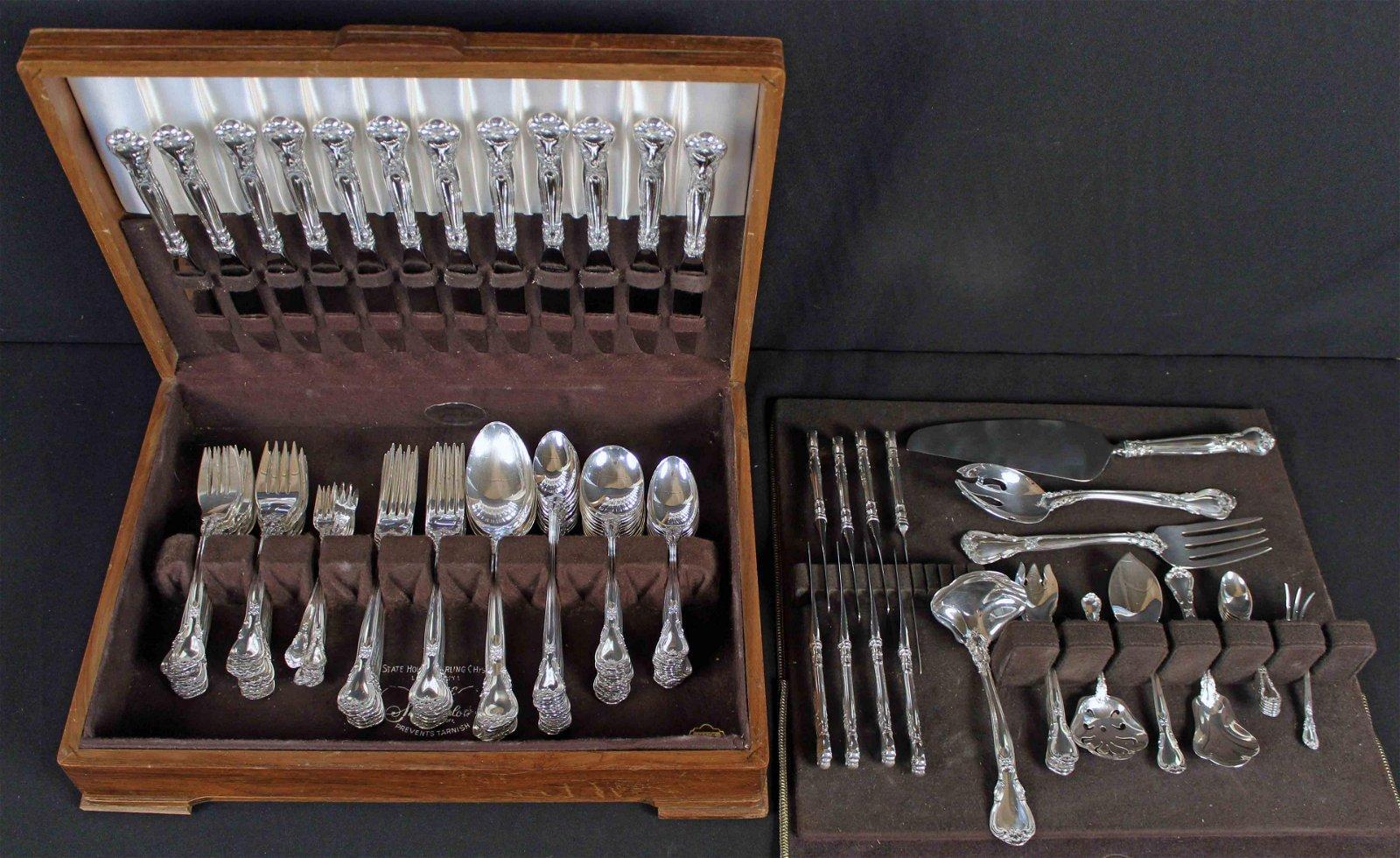 Gorham Chantilly Sterling Silver 120 Piece Set