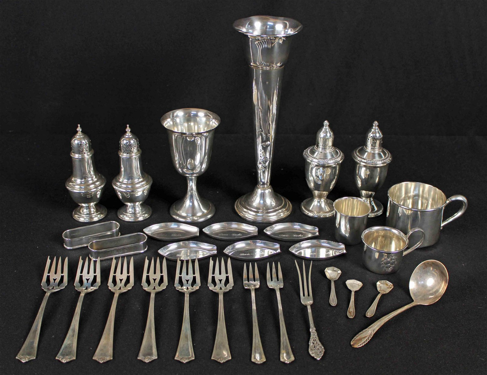 Large Group Sterling Silver Items 16 Ounces Troy